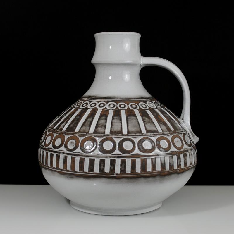 rare mid century modern xxl pottery floor vase ceramano polaris fat lava wgp ebay. Black Bedroom Furniture Sets. Home Design Ideas