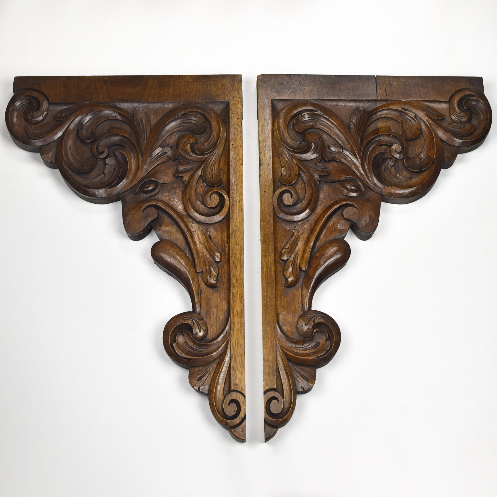 Details About Antique French Carved Wood Wall Shelf Rack Console Corbels Brackets Renaissance